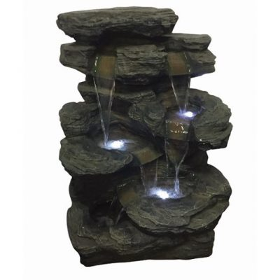 Aqua Creations Springfield Slate Falls Lit Water Feature