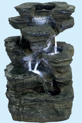 Aqua Creations Indiana Slate Falls Fountain