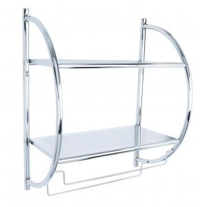 Croydex Wall Mounted Curved Shelving Unit & Towel Rack