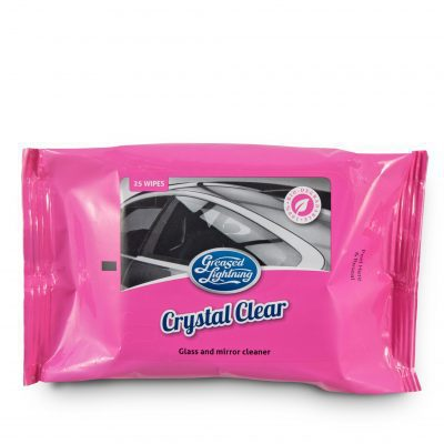 Greased Lightning Crystal Clear Wipes (25 Per Pack)