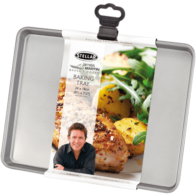 Stellar James Martin Baking Tray Set Non-Stick 24x18x1.5cm