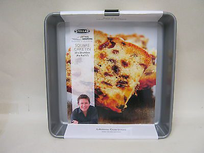 Stellar James Martin Bakers Dozen 23 x 23 x 4.5cm Square Cake Tin
