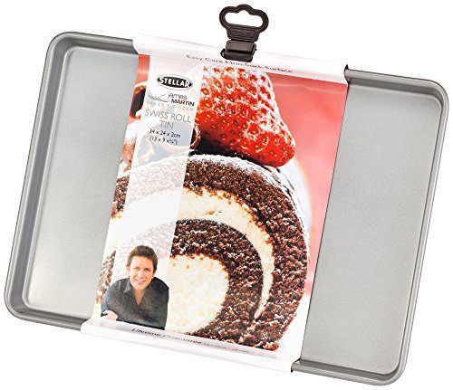 Stellar James Martin Bakers Dozen Range 34 x 24 x 2 cm Swiss Roll Tin