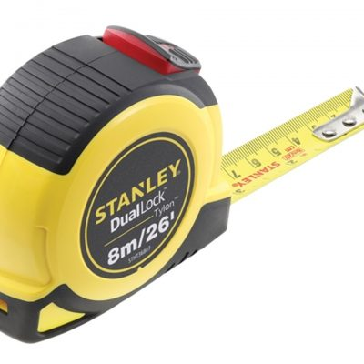 Stanley Dual Lock Tylon Pocket Tape 8m/26ft (Width 25mm)