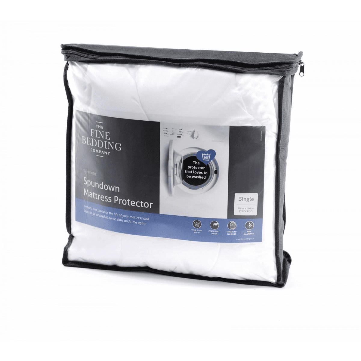 Fine Bedding Spundown Mattress Protector - Single.