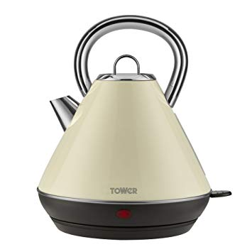 Tower 3KW 1.8L Stainless Steel Kettle - Cream