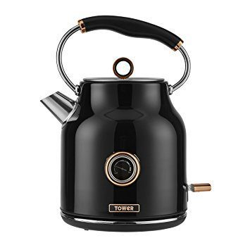 Tower 3kW 1.7L Stainless Steel Kettle - Rose Gold & Black