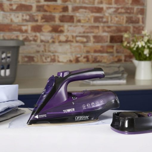 Tower Cord Cordless Steam Iron