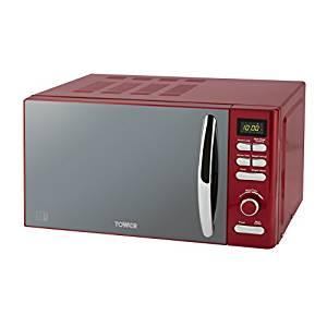 Tower 800W Digital Microwave - Red