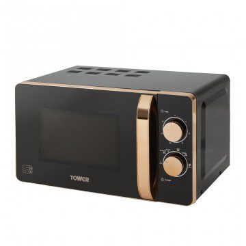 Tower 20L Manual Microwave - Rose Gold & Black