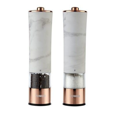 Tower Electric Salt/Pepper Mill - Rose Gold & White Marble