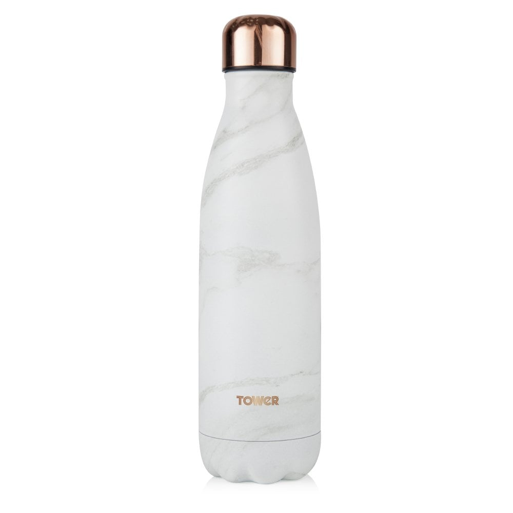 Tower 500ML Sports Bottle - Rose Gold & White Marble