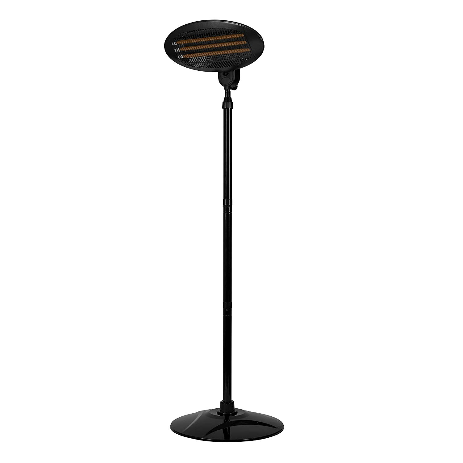 Warmlite 2KW Electric Quartz Garden Patio Heater - Black