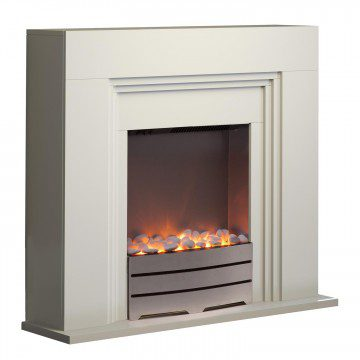 Warmlite York Ivory Fireplace Suite