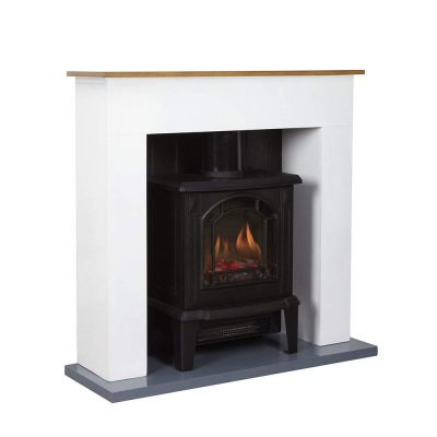 Warmlite Compact Stove Fire Suite, 1800 W, Black
