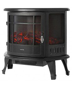 Warmlite Log Effect Stove Fire, 1800 Watt, Black WL46017