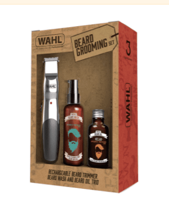 WAHL Rechargeable Trimmer, Beard Oil & Wash Gift Set