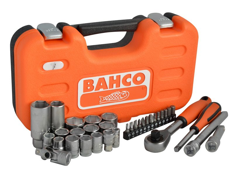 Bahco S330 1/4in & 3/8in Drive Metric Socket Set