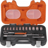 Bahco S160 1/4in Socket Set, 16 Piece
