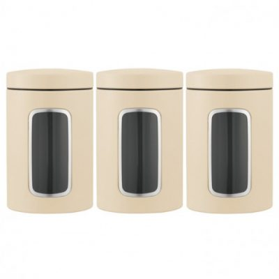 Brabantia Window Canisters Set Of 3 Almond