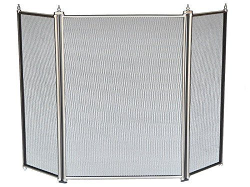Manor Fire Screen 3 Fold Pewter