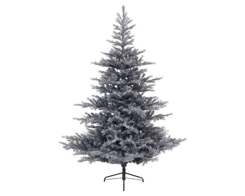 Frosted Grandis Fir Hinged Christmas Tree 120cm