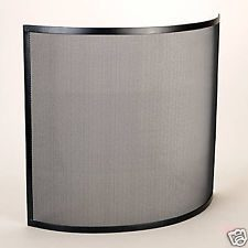 Manor Fire Screen Curve Black
