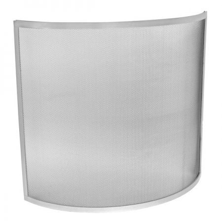 Manor Fire Screen Curve Silver