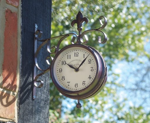 Smart Double Sided York Station Clock & Thermometer
